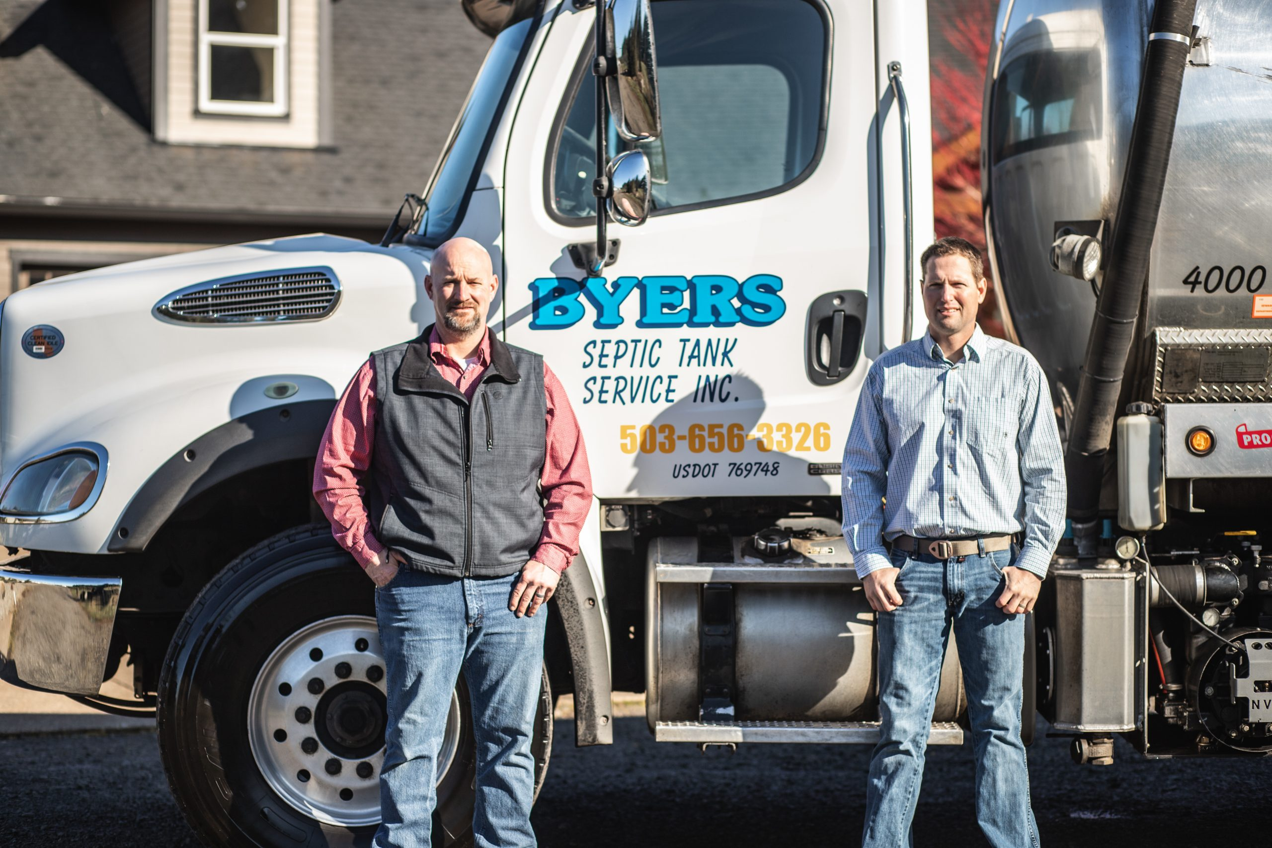 Image of Byers Estacada Septic Tank Services at work
